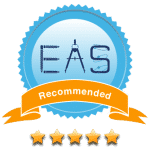 This image shows an Educational App Store recommendation badge that has awarded Revision Buddies a 5 star rating.